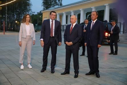 Путин оценил благоустройство нижегородской «Швейцарии»