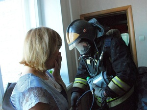 Три человека спасены из горящего дома в Ленинском районе