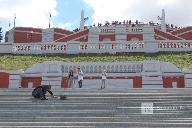Чкаловскую лестницу открыли, несмотря на продолжающиеся ремонтные работы - фото 43