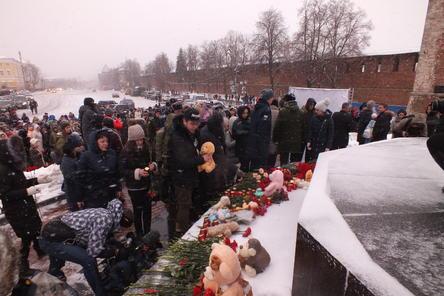 Сотни нижегородцев почтили память погибших в Кемерове