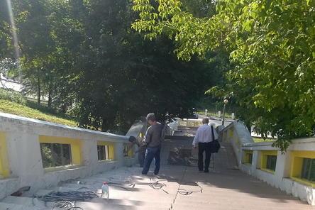 Ремонт Театральной лестницы начался в Нижнем Новгороде (ФОТО)