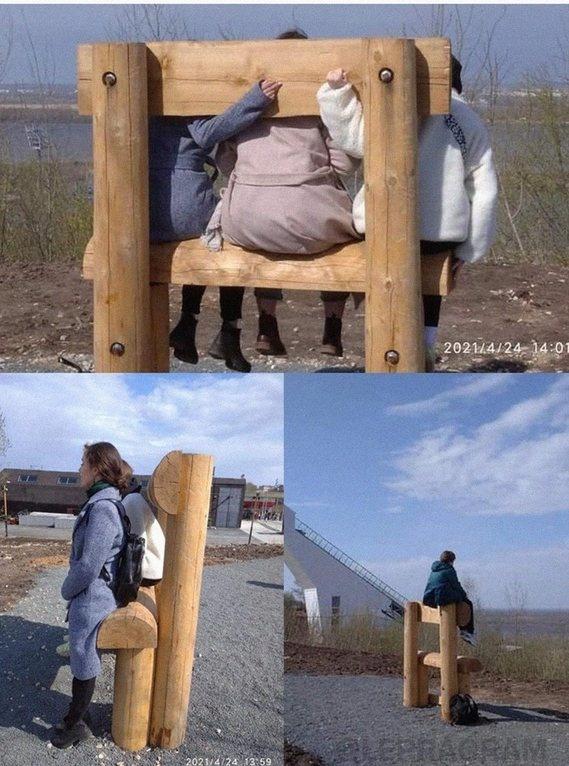 Скамейки у нижегородской канатки удивили пользователей соцсети - фото 2