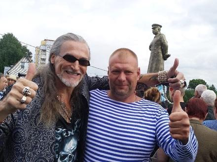 Никита Джигурда выступил на Бору у памятника Сталину