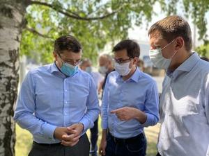 Никитин и Шалабаев на свалке в Канавине обсудили механизм системного вывоза крупногабаритных отходов