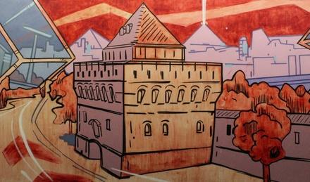 Есть рекорд: самое большое в России томатное граффити появилось в Нижнем Новгороде