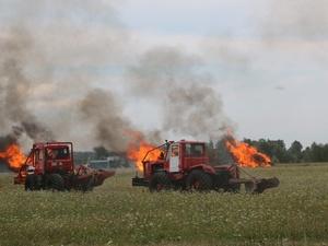На вертолетах и квадроциклах: пожарные боролись с условным лесным возгоранием под Дзержинском