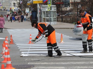 Разметку на нижегородские дороги начнут наносить 5 мая
