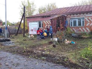 В рамках акции «#ДоброВСело» нижегородские студенты провели субботник в сергачском фельдшерском пункте