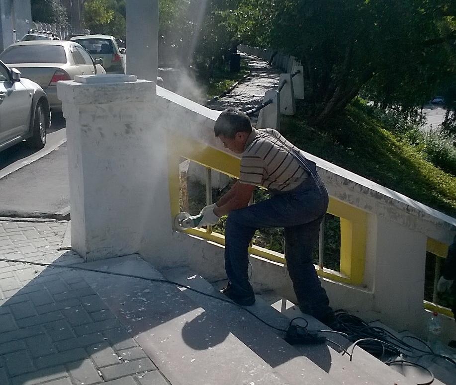 ВНижнем Новгороде начался ремонт Театральной лестницы