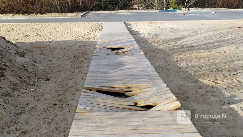 Деревянные дорожки и павильон на Гребном канале подверглись нападению неизвестных вандалов - фото 3