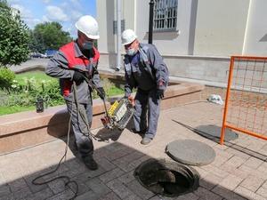 Робот проверил теплотрассу под стеной Нижегородского кремля