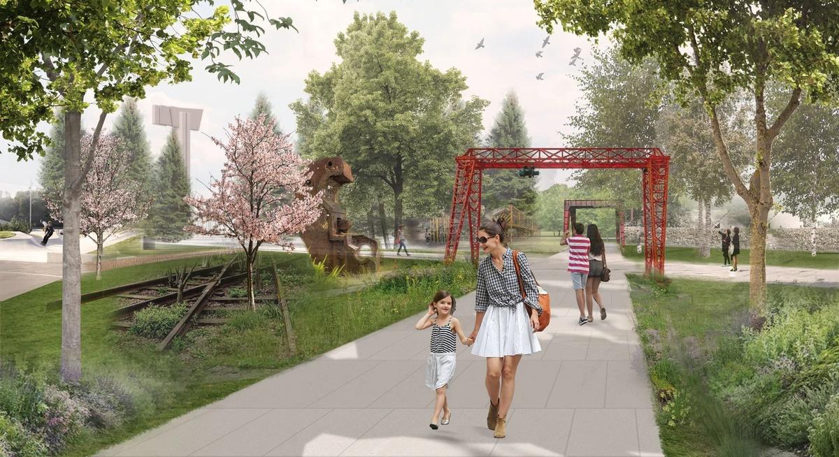 Зоны отдыха и прогулочные дорожки появятся на площади Героев - фото 3